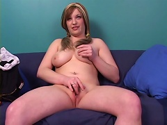 Get to know this young and cheerful bitch as she shows off her massive pair of melons an