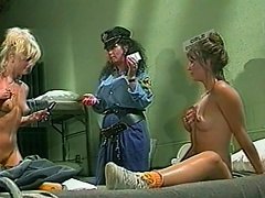 The boredom inside the cell makes these two lustful inmate sluts to share the moment of one exhilarating, hardcore all girls fuck