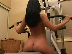 She is an exotic princess who loves to workout her love muscles. See her fondle her twa