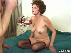 Hail to this unfading, lean granny as she never fails to amuse everyone with her exhilarating sex performances.  Time fades, wrinkl