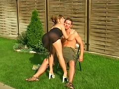 Amaze yourself with Laura Blues well endowed skills in cock sucking.  She loves to do it when the scor