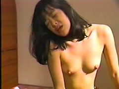 Beautiful exotic princess gets ganged up by these two Asian dudes. See her immensely enjoy getting pampered, as her luscious breasts