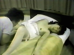 Gaze your eyes at this lovely Asian bitch as she gets her bushy slit pampered by her guy. Watch this dude as he slams his face onto h