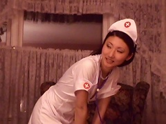 Featuring this gorgeous Asian nurse in a steaming hot sex video. As she comes over to her patients house fo