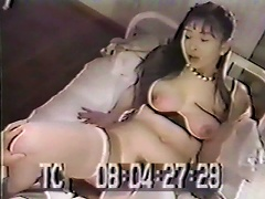 See this luscious Oriental chick as she gets her perky nipples sucked on by this guy in bed. Watch her then sit on this mans face,