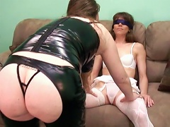 This is a first for MILF hottie Samantha Charles as she gets dominated by Domme Brooke. See her get blindfol