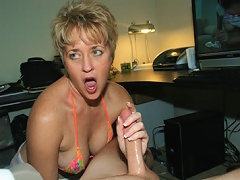 Mom Tracy is coaxed into giving Joey a handjob but when he wont cum, she goes to drastic measures to make