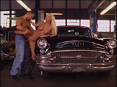 She is one cock hungry MILF bitch who loves dirty men. One day at the mechanics when she went to