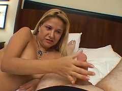Her moans emanate throughout the four corners of this room as this blonde bitch gets a fury of pounding