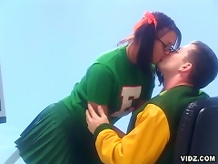 This scene is a must see. A cheerleader and a quart