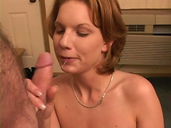 Take a break and join this sexy blonde hussy as she performs a mind blowing mouth job. Watch her suck off this rigid cock, t