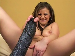 Sexy bitch with nice natural tits love anal sex more than anything. Rigid cock rushing in and banging her shit hole