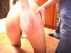 If you want to argue with him well you better prepare your ass for some hard spanking. Watch as this latin babe gets her