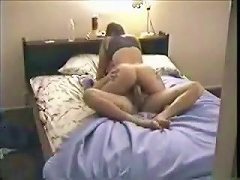 Booby gal is diddling on the bed, so her tally joins her to get mutual pleasure after he saw  her sexy
