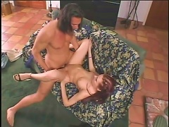 Lovely redheaded MILF Katrina is all too serious when it