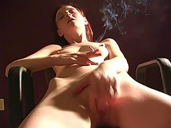 She smokes and tells everyone she is ready for the one big fuck fight and seduces her way to any