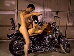 Scarlet was born to be free and a true biker babe. Watch her as she teases her man by showing off her pink jui