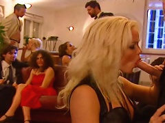 Silvia Saint gets pounded in  a hot orgy with many people