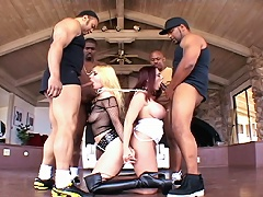 Woman Master Gives Orders To Her Blonde Slave To Blow 4 Me