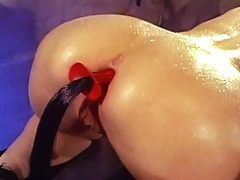 Blonde slave gets torture by Domina and gets fuck hard