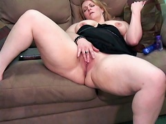 She is one fat bitch that has a horny hole and just cant stop until she reaches multiple orgasms. See blonde Rebecca as she uses t