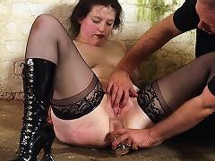 Bizarre examination and humiliation of slavegirl Emma