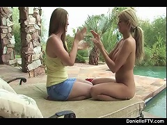 Danielle plays with a hot blonde babe