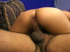 Round assed Indian cutie Indra riding an immense shaft