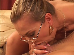 Darien Ross takes the lead in this hot milf clip. She sits on her partners lap and made him ravish her ample set of boobs while sh