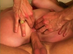 Attractive harlot Jordan Styles gets pussy banged and ass fingered in a threesome