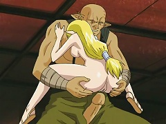 Blonde hentai babe gets her tight pussy stretched by a huge dick