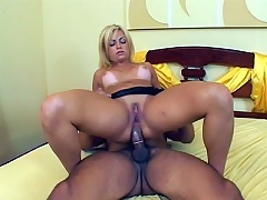 Fast Riders starts off with a hot scene featuring a lusty Latina named Alessandra. Check her out, this senorita has a