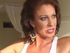 Foxy redhead Vanessa Videl is a hot milf momma with an appetite for hunky studs to pleasure her hot body. The clip starts with Vaness