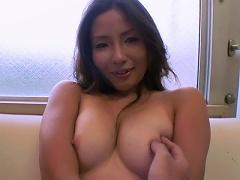 Beautiful Japanese babe Fugetsu Kacho shows big jugs and fucks a large shaft