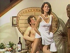 Jun Summers gets so hot and horny when she drinks champagne. Watch this amazing sexy brunette babe as she plays with herself, squee