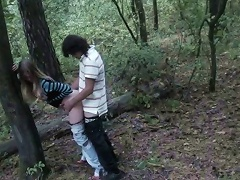 Trying things means fucking in most uncommon places! Weve never fucked in the woods bef