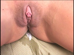 She is a brunette slut that only wishes to get