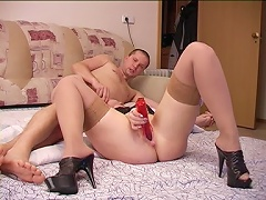 Another willing participant to be recorded. She got down and worked my cock while she stuff