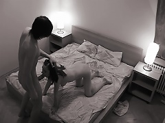Zamutnik setup a camera in his bedroom and didnt tell his girlfriend when she came over the night. The camer