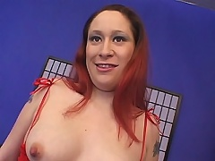 Hot soon to be mommy Sunshine enjoys showing off her tight pink twat to attract horny guys into giving her hardcore pussy